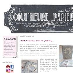 """""""Carte * Couronne de Voeux"""" [Tutoriel]"""