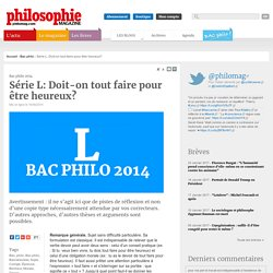 Bac Philo, Bac, philo, Bac philo, Baccalauréat, Sujet, Corrigé, Épreuve, Bonheur, Morale, Devoir