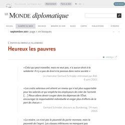 Heureux les pauvres (Le Monde diplomatique, septembre 2017)