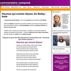 Heureux qui comme Ulysse, Du Bellay : texte