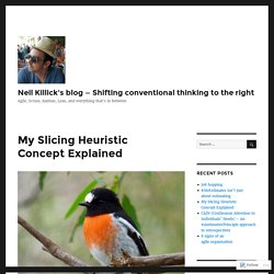My Slicing Heuristic Concept Explained – Neil Killick's blog — Shifting conventional thinking to the right
