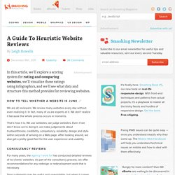 A Guide To Heuristic Website Reviews - Smashing UX Design