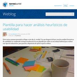 Plantilla para hacer análisis heurísticos de usabilidad