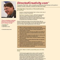 Heuristics of DirectedCreativity