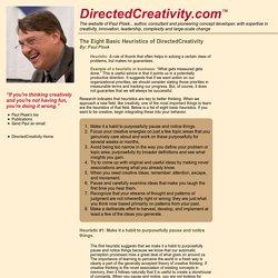 Heuristics of DirectedCreativity