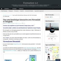 Une carte heuristique interactive avec Novamind et Thinglink