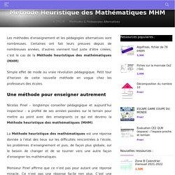 Méthode Heuristique des Mathématiques - MHM en Détails - La Salle des Maitres