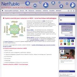8 points essentiels pour scénariser un MOOC : Carte heuristique méthodologique