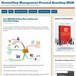 Les 7 REGLES de Base Pour réaliser une Carte Heuristique « Storytelling-Management-Personal Branding-MLM