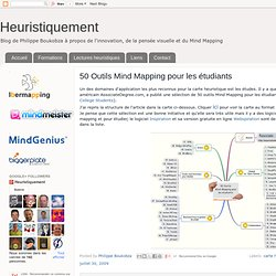 50 Outils Mind Mapping pour les étudiants