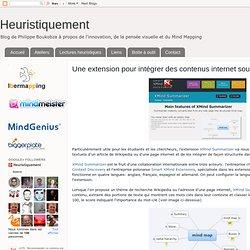 Une extension pour intégrer des contenus internet sous XMind