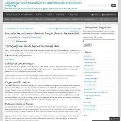 Les cartes heuristiques en classe de français (France , baccalauréat) « Cartographier ses idées & Productivité