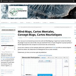 Mind-Maps, Cartes Mentales, Concept-Maps, Cartes HeuristiquesInterface-Conscience