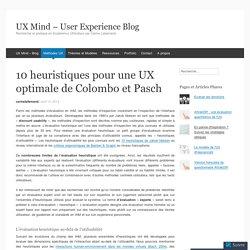 10 heuristiques pour une UX optimale de Colombo et Pasch
