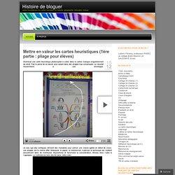 cartes heuristiques (ou cartes mentales) en histoire, géographie, éducation civique