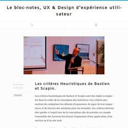 Le bloc-notes, UX & Design d'expérience utilisateur