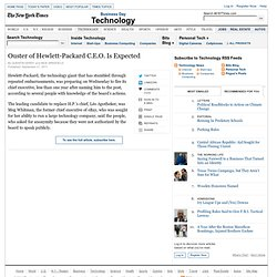 Hewlett-Packard Board Expected to Fire C.E.O. - NYTimes.com (Build 20110920042010)