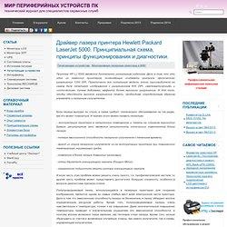 Драйвер лазера принтера Hewlett Packard LaserJet 5000. Принципиальная схема, принципы функционирования и диагностики.