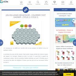 [Jeu en ligne] Hexacolor – colorier c'est gagner – Cycle 2 / Cycle 3