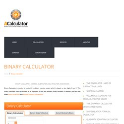 Binary/Decimal/Hexadecimal Converter - ACalculator.com