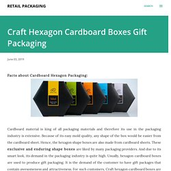 Craft Hexagon Cardboard Boxes Gift Packaging