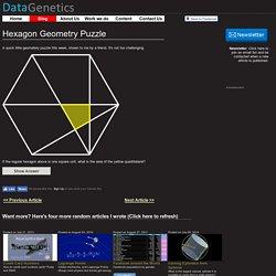 Hexagon Geometry Puzzle