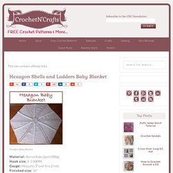 Hexagon Shells and Ladders Baby Blanket