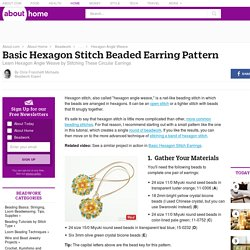 Basic Hexagon Stitch Beading Pattern