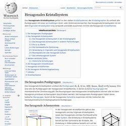 Hexagonales Kristallsystem