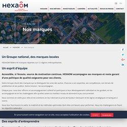 Les marques commerciales du Groupe HEXAOM
