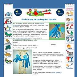 Kraken aus Hexentreppen basteln im kidsweb.de