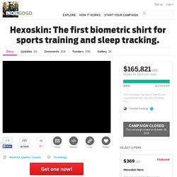 Hexoskin: The first wearable movement, respiration, and heart activity tracker.