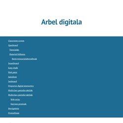 Sare_Hezkuntza mintegia - Arbel digitala