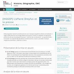 [HGGSP] L'affaire Dreyfus et la presse