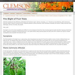 HGIC 2208 Fire Blight of Fruit Trees