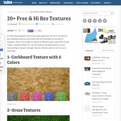 20+ Free & Hi Res Textures | Free Resources for Designers & Developers