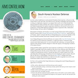 South Korea's Nuclear Defense