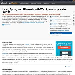 Using Spring and Hibernate with WebSphere Application Server