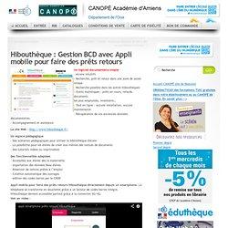 Hibouthèque : Gestion BCD avec Appli mobile pour faire des prêts retours