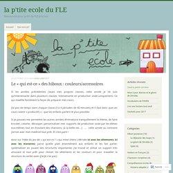 Le «qui est-ce» des hiboux : couleurs/accessoires – la p'tite ecole du FLE