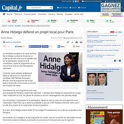 Anne Hidalgo défend un projet local pour Paris