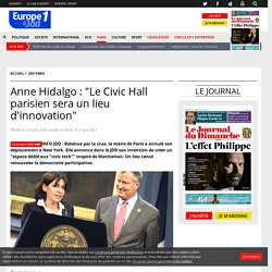 "Anne Hidalgo : ""Le Civic Hall parisien sera un lieu d'innovation"""