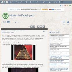 Hidden Artifacts! (pics)