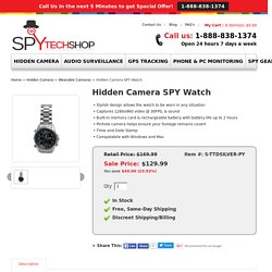 Hidden Camera SPY Watch