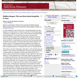 The Journal of Infectious Diseases 2010;202:819 Hidden Danger: The Raw Facts about Hepatitis E Virus