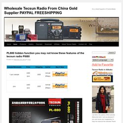 PL880 hidden function you may not know these features of the tecsun radio Pl880