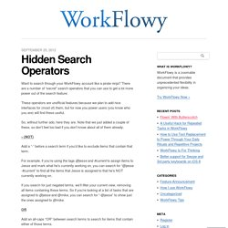 Hidden Search Operators