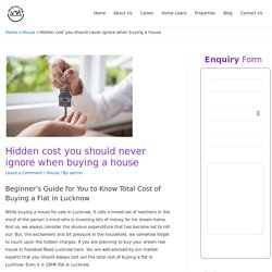Hidden cost you should never ignore when buying a house -