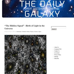 Birth of Light in the Universe