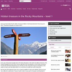 Hidden treasure in the Rocky Mountains – level 1